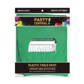 24 Units of Rectangle Green Plastic Table Skirt - Table Cloth