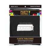 24 Units of Rectangle Black Plastic Table Skirt - Table Cloth