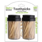 48 Units of 2 Pack Bamboo Toothpick - Toothpicks