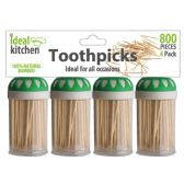 48 Units of 4 Pack Bamboo Toothpick - Toothpicks