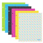 96 Units of BAZIC Polka Dot 2-Pockets Portfolios - Folders & Portfolios