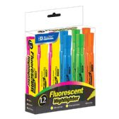 24 Units of BAZIC Desk Style Fluorescent Highlighters (12/Box) - Highlighter