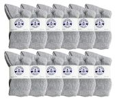 60 Units of Yacht & Smith Kids Premium Cotton Crew Socks Gray Size 6-8 - Boys Crew Sock