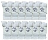 60 Units of SOCKS'NBULK Kids Premium Cotton Crew Socks White Size 4-6 - Boys Crew Sock