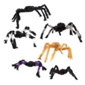 96 Units of Spider Hairy 2 Sizes 22/30in Ea In 3 Colors Hlwn Hangtag - Halloween & Thanksgiving