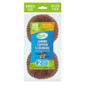24 Units of 2 Pack Jumbo Copper Scourer - Scouring Pads & Sponges