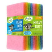 24 Units of 10 Pack Colored Scouring Pads - Scouring Pads & Sponges