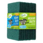 24 Units of 10 Pack Green Scouring Pads - Scouring Pads & Sponges