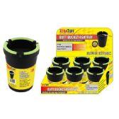 48 Units of Glow-top Black Butt Bucket Ashtray - Ashtrays