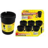 48 Units of Jumbo Black Butt Bucket Ashtray - Ashtrays