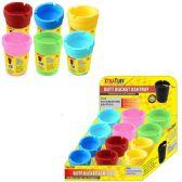 48 Units of Jumbo Colored Butt Bucket Ashtray - Ashtrays