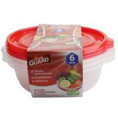 24 Units of 6 Pack Rectangle Food Container - Food Storage Bags & Containers