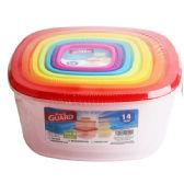 24 Units of 14 Piece Plastic Food Container - Food Storage Bags & Containers