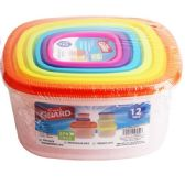 24 Units of 12 Piece Plastic Food Container - Food Storage Bags & Containers