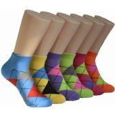 480 Units of Women's Argyle Low Cut Ankle Socks - Womens Ankle Sock