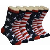 360 Units of Women's Stars and Stripes Crew Socks - Womens Crew Sock