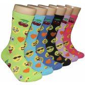 360 Units of Women's Emoji Crew Socks - Womens Crew Sock