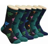 360 Units of Women's Lucky Clover Crew Socks - Womens Crew Sock
