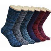 360 Units of Women's Marled Crew Socks - Womens Crew Sock