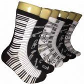 360 Units of Women's Music Print Crew Socks - Womens Crew Sock