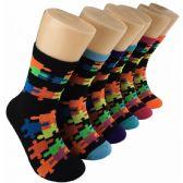 360 Units of Women's Puzzle Piece Crew Socks - Womens Crew Sock