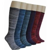 240 Units of Ladies Marled Knee High Socks - Womens Knee Highs