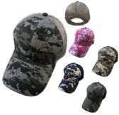 36 Units of Cotton Ripstop Plain Camo Hat Soft Jersey Mesh Back - Baseball Caps & Snap Backs