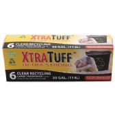 48 Units of 6 Count Xtratuff 30 Gallon Recycling Bag Box - Garbage & Storage Bags