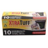 48 Units of 10 Count Xtratuff 13 Gallon Recycling Bag Box - Garbage & Storage Bags