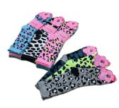 36 Units of Three Pair Ladies Crew Sock Cheetah - Womens Crew Sock