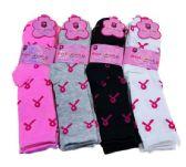 36 Units of Three Pair Ladies Crew Sock Pink Ribbon - Womens Crew Sock