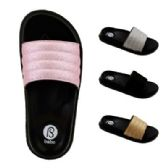 40 Units of Womens Glitter Slide - Women's Flip Flops