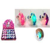 48 Units of FLASHING UNICORN RUBBER RING - Light Up Toys