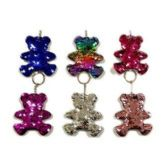 48 Units of REVERSIBLE SEQUINS BEAR - Key Chains