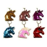 48 Units of REVERSIBLE SEQUINS UNICORN KEYCHAIN - Key Chains