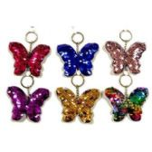 48 Units of REVERSIBLE SEQUINS BUTTERFLY KEYCHAIN - Key Chains