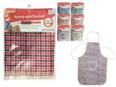 144 Units of Checkered Apron - Kitchen Aprons