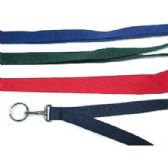 48 Units of NECKLACE WOVEN W/KC SOLID COLOR - ID Holders