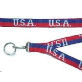 48 Units of NECKLACE WOVEN W/KC U.S.A. - ID Holders