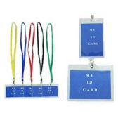 48 Units of ID HOLDER NECKLACE AST COLORS - ID Holders