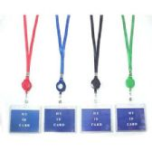 48 Units of ID HOLDER NECKLACE W/RETRACTABLE CORD - ID Holders