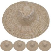 24 Units of Adults Large Brim Straw Hat - Sun Hats