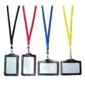 48 Units of COLORED ID HOLDER W/NECKLACE - ID Holders