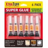 48 Units of 6 Pack Xtratuff Super Glue - Glue Office and School