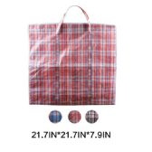 108 Units of X-Large Plaid Woven Zipper Bag - Tote Bags & Slings