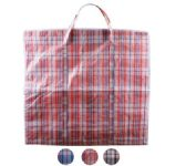 108 Units of XX-Large Plaid Woven Zipper Bag - Tote Bags & Slings