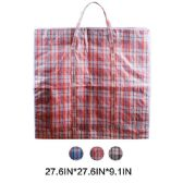 108 Units of Jumbo Plaid Woven Zipper Bag - Tote Bags & Slings