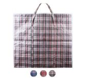 108 Units of Giant Plaid Woven Zipper Bag - Tote Bags & Slings