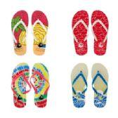 96 Units of Womens Tye Dye Flip Flops - Women's Flip Flops