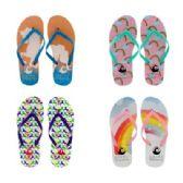 96 Units of Womens Rainbow Flip Flops - Women's Flip Flops
